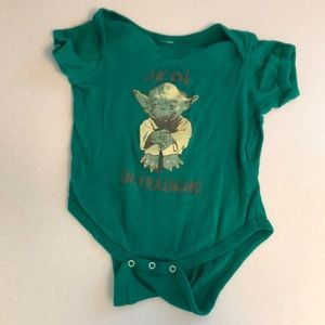 Star Wars Yoda Jedi in Training Onesie 18mo Green